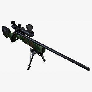 3dsmax m40 a3 sniper rifle