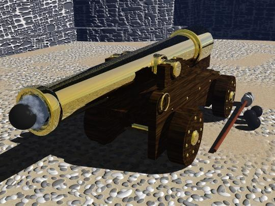 3d model of cannon