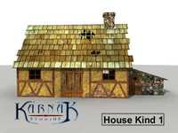 rustic medieval house 3ds