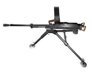 russian kalashnikov machine gun 3d model