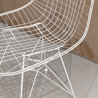 eames wire chair charles 3d model