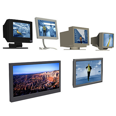 3d monitors screens plasma model