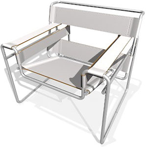 3d wassily chair model