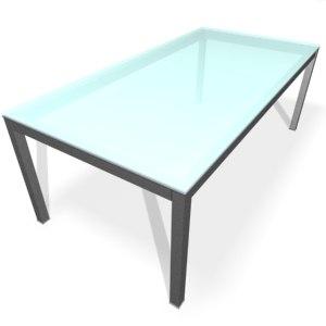 3d model of table fantoni