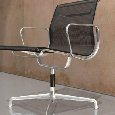 eames aluminium chair charles 3d model