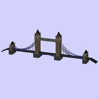tower bridge 3d max