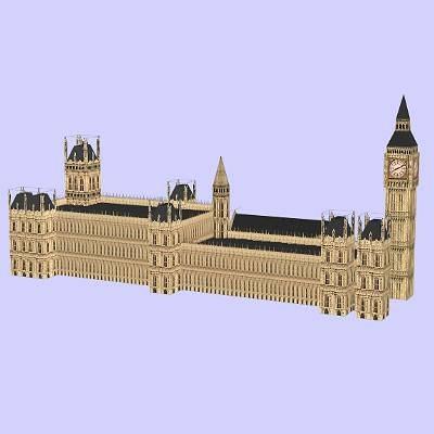 house parliament big 3d model