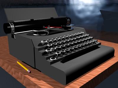 typewriter royal 3d model
