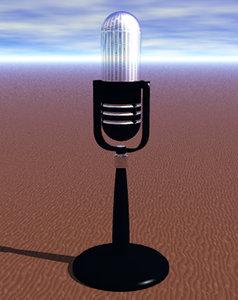 rca desktop mic microphone 3d model