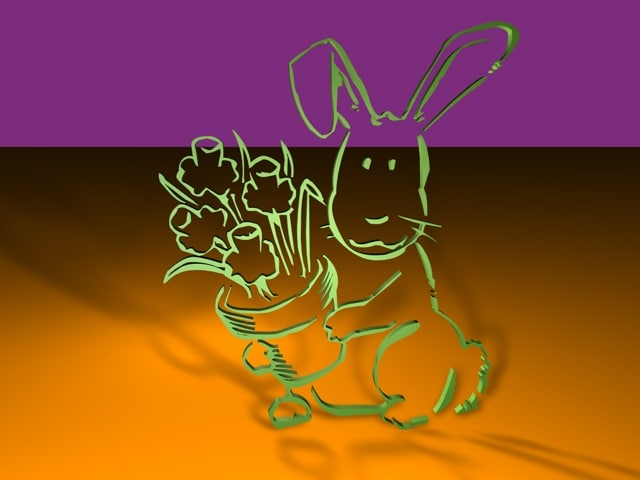 3d 3ds easter bunny