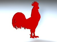 3d 3ds birds rooster