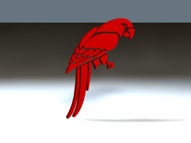 3ds birds parrot