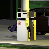 3dsmax gas pump