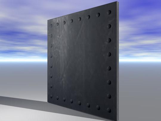 3d 3ds plate steel bulkhead rivets