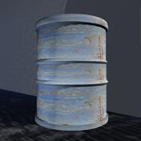 3ds max oil drum