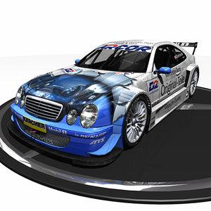 clk dtm mercedes benz 3d model