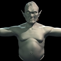 3d model of realistic ogre