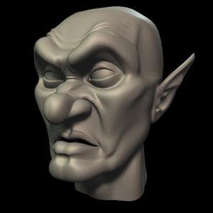 3d ogre orc head