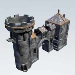 3ds max castle gatehouse