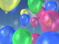 balloons birthdays grand 3d model