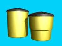 crash barrels 3d model