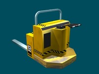 forklift warehouse 3d model