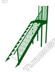 external staircase steel 3ds