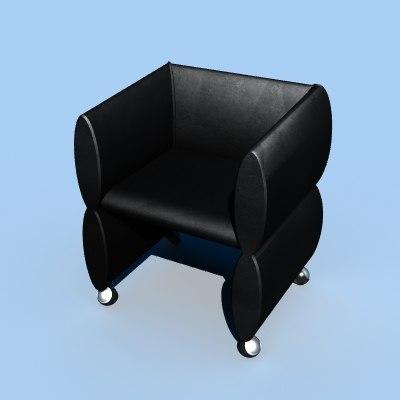 furniture chair 3d lwo