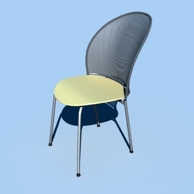 3d model cafe bar chair