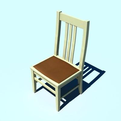 dining chair 3d lwo