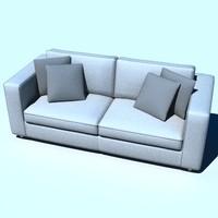 modern sofa 3d lwo