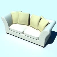 classic sofa 3d lwo