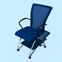 3d training chair model