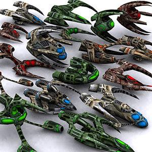 sci-fi alien invasion 3d model