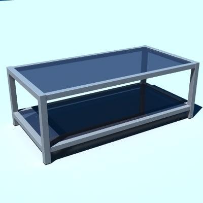 lwo modern coffee table