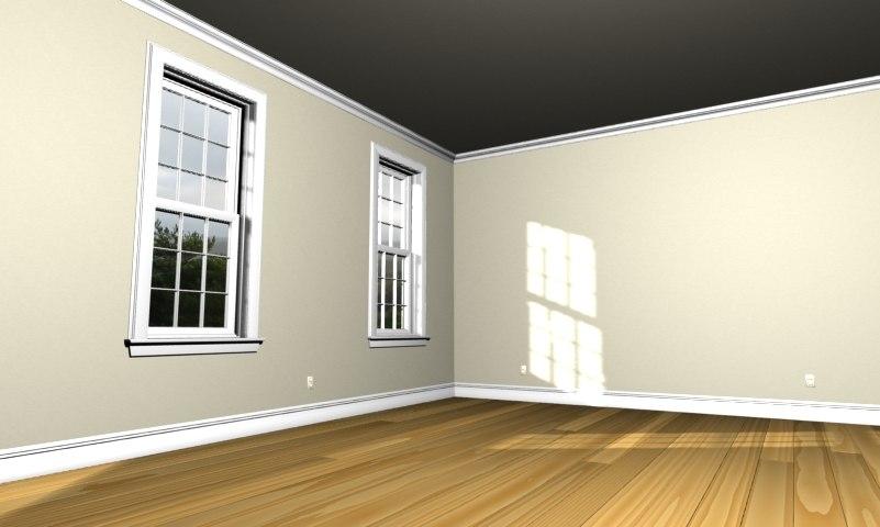 3d room scene model