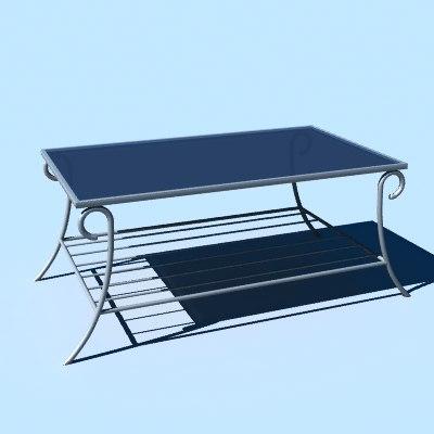 metal coffee table 3d model