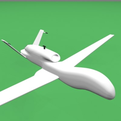 3d model global hawk spy plane