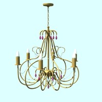 3d lighting chandelier model