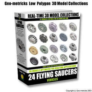 24 flying saucers 3d model