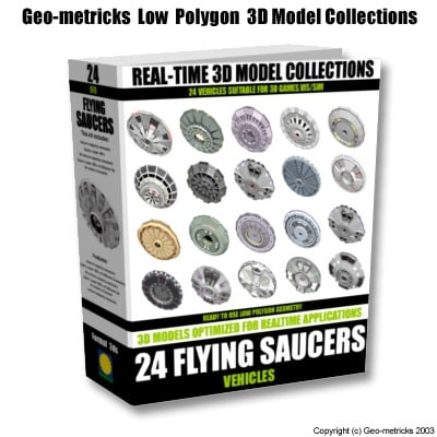 24 flying saucers 3d model