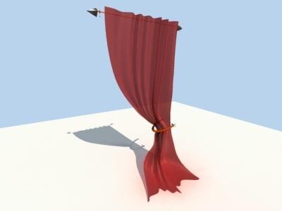 curtain flat 3d model