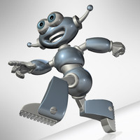 toy-cartoon robot.c4d