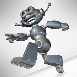 robot toy cartoon 3d model