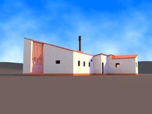 summer house alvar aalto 3d model