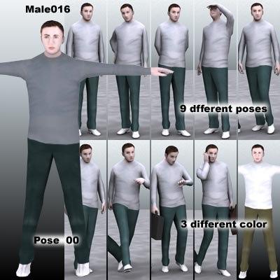 3d model of human male guy