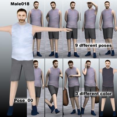 human male guy 3d model