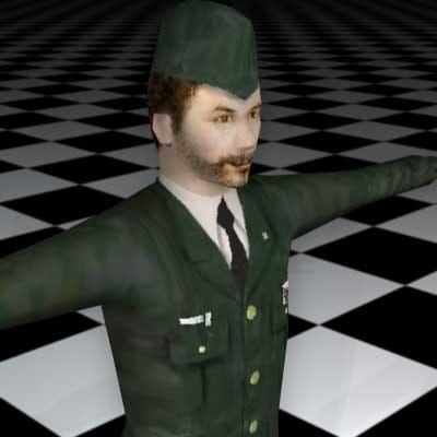 3d human male guy model