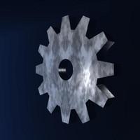 3ds max machine gear
