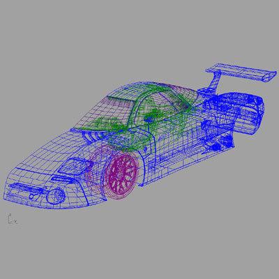 iges nissan sports car 3d model
